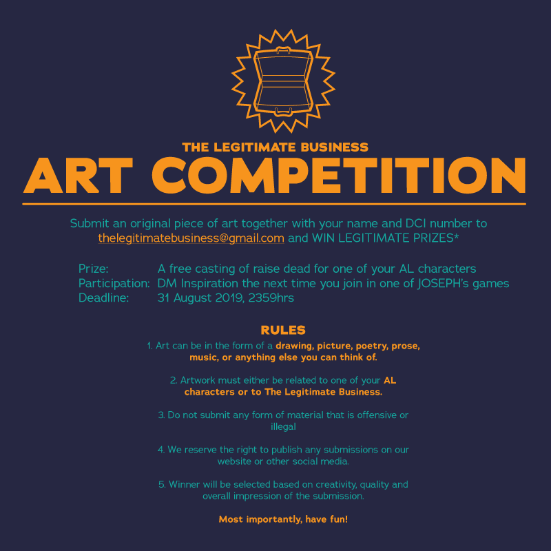 Promo for the First Legitimate Art Competition