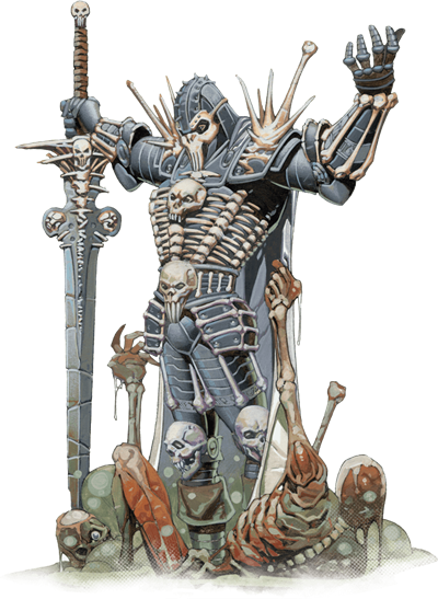 A Bone Knight of Karrnath, one of the nations of Eberron.