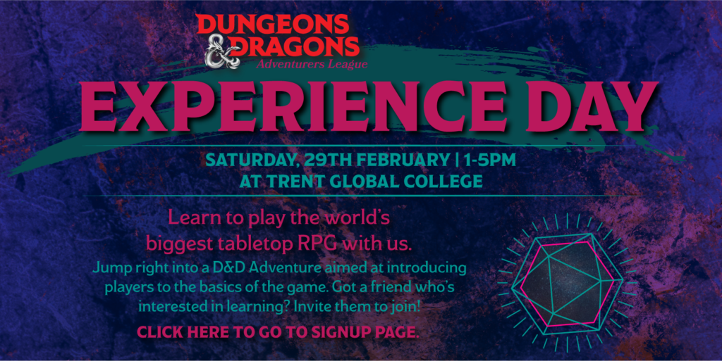 Promo for Experience Day II on 29 Feb 2020