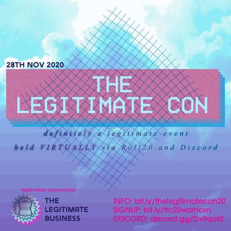 Promo Image 1 for the Legitimate Con 2020
