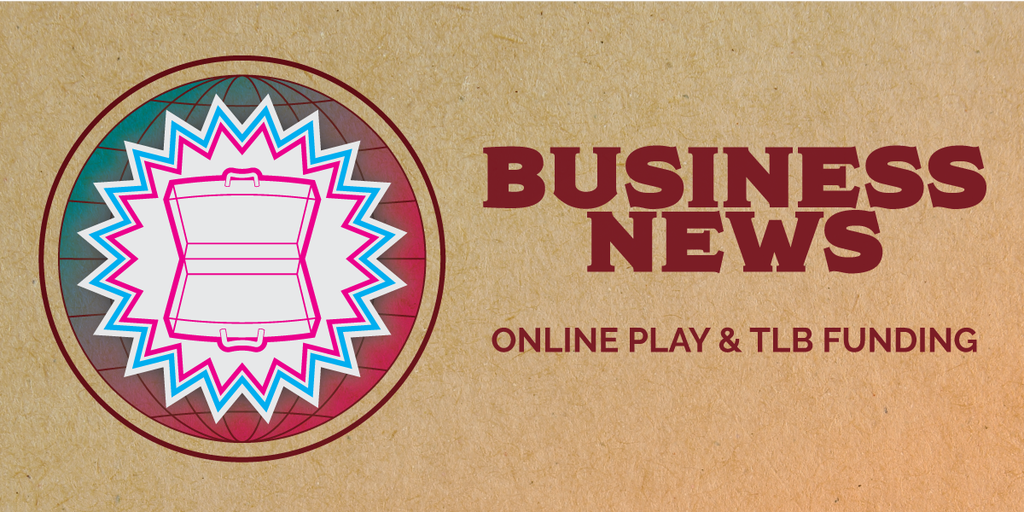 """Banner for """"Business News: Online Play & TLB Funding"""""""